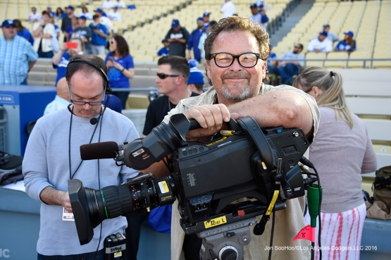The Great Kurt Struve poses prior to Los Angeles Dodgers vs San Francisco Giants Saturday, April 16, 2016 at Dodger Stadium.