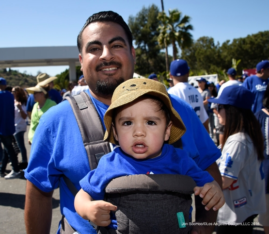 Great Los Angeles Dodger fans at Viva Los Dodgers prior to game against San Francisco Giants Sunday, April 17, 2016 at Dodger Stadium. The Dodgers beat the Giants 3-1.