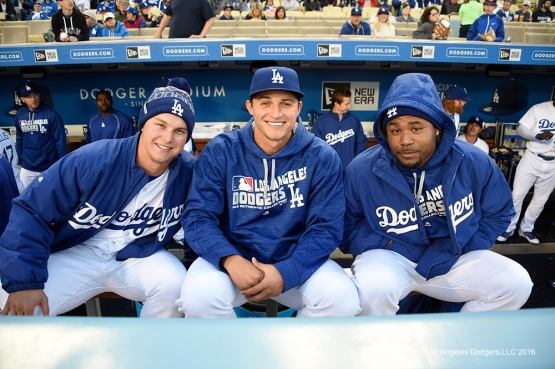 Los Angeles Dodgers prior to game against Miami Marlins Monday, April 25, 2016 at Dodger Stadium.