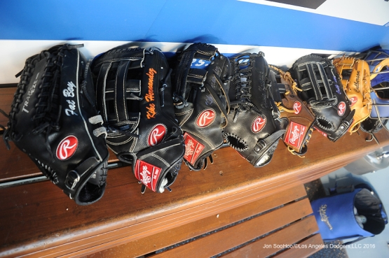 Super Subs gear ready to go prior to game against Miami Marlins Tuesday, April 26, 2016 at Dodger Stadium.