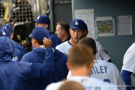 Los Angeles Dodgers Clayton Kershaw during game against Miami Marlins Tuesday, April 26, 2016 at Dodger Stadium.