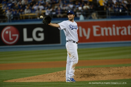 Los Angeles Dodgers Clayton Kershaw against the Miami Marlins Tuesday, April 26, 2016 at Dodger Stadium.
