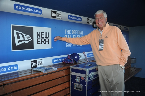 Guest of Mark Walter pose prior to game against Miami Marlins Wednesday, April 27, 2016 at Dodger Stadium.