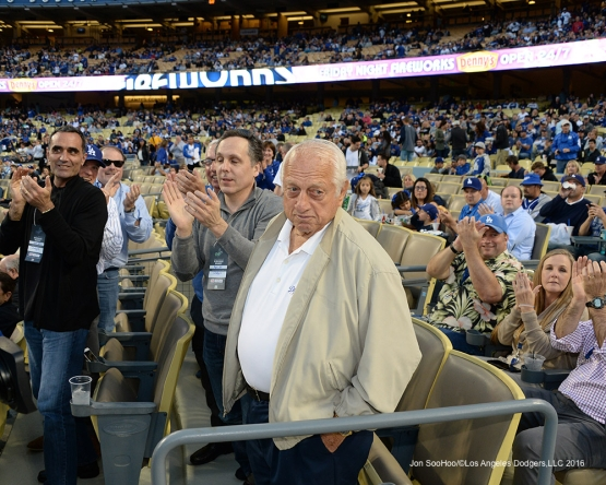 Los Angeles Dodgers prior to game against the San Diego Padres Friday, April 29,2016 at Dodger Stadium in Los Angeles,California.