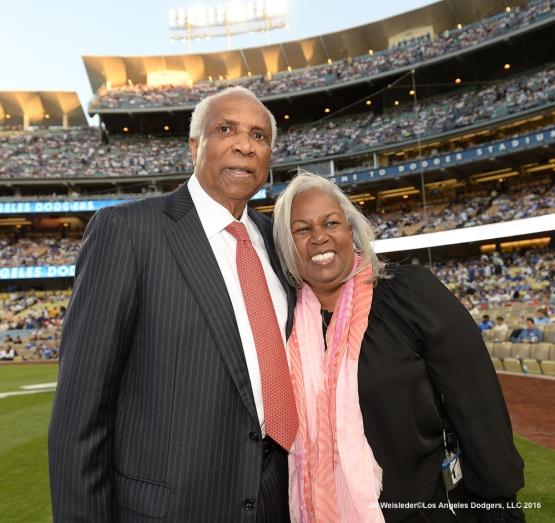 Frank Robinson and Sharon Robinson. Jill Weisleder/Dodgers