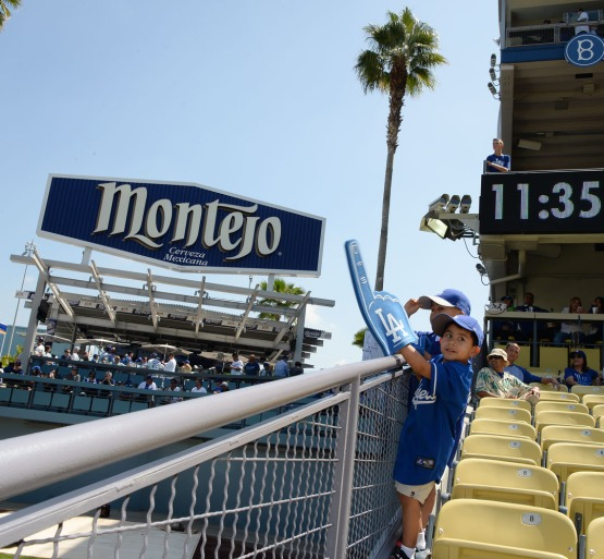Fans wait for the start of the Dodgers home opener against the Arizona Diamondbacks. Jill Weisleder/LA Dodgers