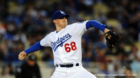 Ross Stripling started the game against the Marlins.