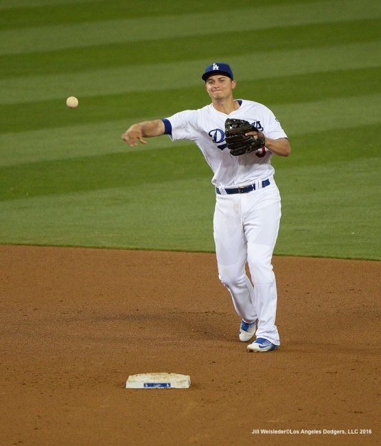 Corey Seager makes a play at second base. Jill Weisleder/Dodgers