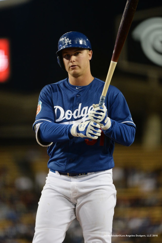 Joc Pederson gets ready to bat. Jill Weisleder/LA Dodgers