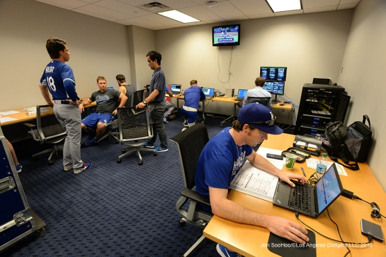 Los Angeles Dodgers prior to during game against the New York Mets Friday, May 27, 2016 at Citi Field in Flushing,New York.