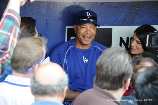Dave Roberts speaks to the media prior to game against the New York Mets Friday, May 27, 2016 at Citi Field in Flushing,New York.