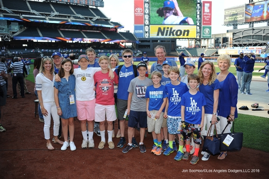 The Boehly family and guests prior to game against the New York Mets Friday, May 27, 2016 at Citi Field in Flushing,New York.