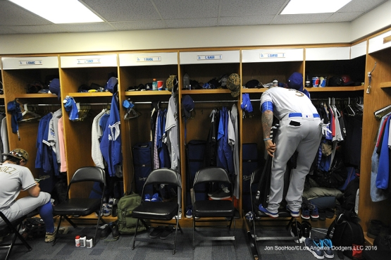 Los Angeles Dodgers Carl Crawford prior to game vs the Chicago Cubs Monday, May 30,2016 at Wrigley Field in Chicago,Illinois. Photo by Jon SooHoo/©Los Angeles Dodgers,LLC 2016