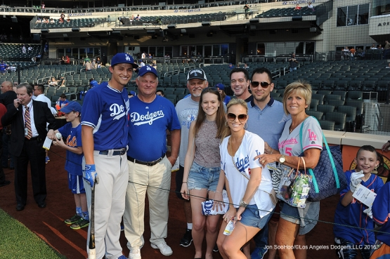 The Seager family pose prior to game against the New York Mets Friday, May 27, 2016 at Citi Field in Flushing,New York.