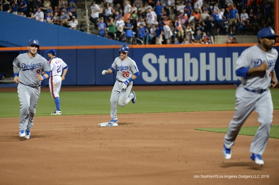 Los Angeles Dodgers Chase Utley hits grand slam against the New York Mets Saturday, May 28, 2016 at Citi Field in Flushing,New York.