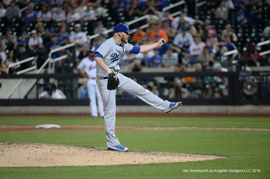 Los Angeles Dodgers J.P. Howell pitches against the New York Mets Saturday, May 28, 2016 at Citi Field in Flushing,New York.
