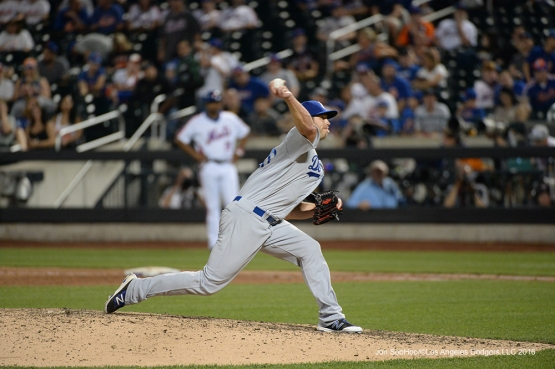 Los Angeles Dodgers Casey Fien pitches against the New York Mets Saturday, May 28, 2016 at Citi Field in Flushing,New York.