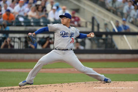 Los Angeles Dodgers Julio Urias against the New York Mets Friday, May 27, 2016 at Citi Field in Flushing,New York.