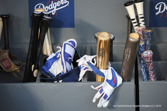 Los Angeles Dodgers stuff during game against the New York Mets Tuesday, May 10,2016 at Dodger Stadium in Los Angeles,California.  Jon SooHoo/©Los Angeles Dodgers,LLC 2016
