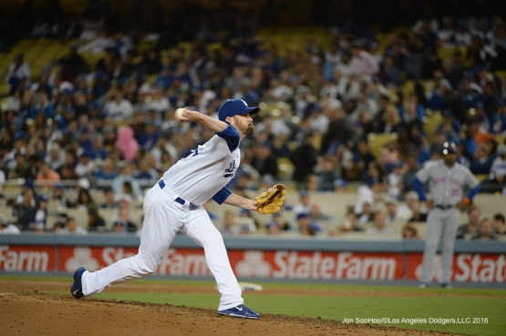 Los Angeles Dodgers Louis Coleman pitches against the New York Mets Tuesday, May 10,2016 at Dodger Stadium in Los Angeles,California.  Jon SooHoo/©Los Angeles Dodgers,LLC 2016