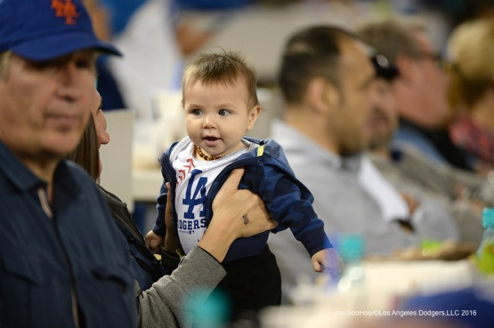 Young great Los Angeles Dodgers fan prior to game against the New York Mets Tuesday, May 10,2016 at Dodger Stadium in Los Angeles,California.  Jon SooHoo/©Los Angeles Dodgers,LLC 2016