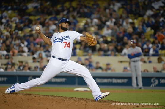 Los Angeles Dodgers Kenley Jansen pitches the ninth against the New York Mets Tuesday, May 10,2016 at Dodger Stadium in Los Angeles,California.  Jon SooHoo/©Los Angeles Dodgers,LLC 2016