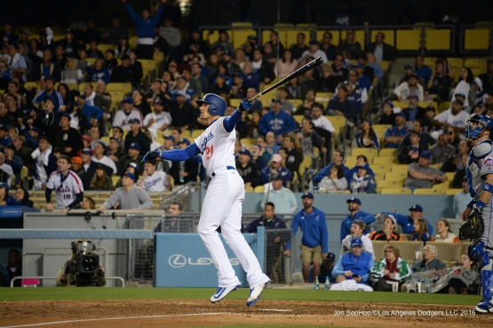 Los Angeles Dodgers Trayce Thompson hits a walk off home run in the ninth against the New York Mets Tuesday, May 10,2016 at Dodger Stadium in Los Angeles,California. The Dodgers beat the Mets 3-2. Jon SooHoo/©Los Angeles Dodgers,LLC 2016