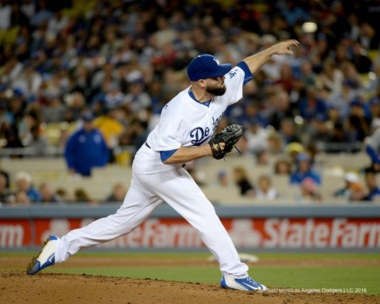 Los Angeles Dodgers Adam Liberatore pitches against the New York Mets Wednesday, May 11,2016 at Dodger Stadium in Los Angeles,California.  Jon SooHoo/©Los Angeles Dodgers,LLC 2016