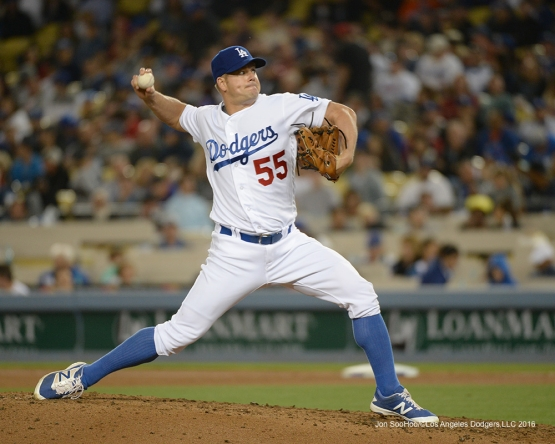 Los Angeles Dodgers Joe Blanton pitches against the New York Mets Wednesday, May 11,2016 at Dodger Stadium in Los Angeles,California.  Jon SooHoo/©Los Angeles Dodgers,LLC 2016