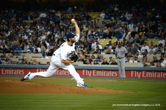 Los Angeles Dodgers Clayton Kershaw pitches against the New York Mets Thursday, May 12, 2016 at Dodger Stadium in Los Angeles,California.  Jon SooHoo/©Los Angeles Dodgers,LLC 2016