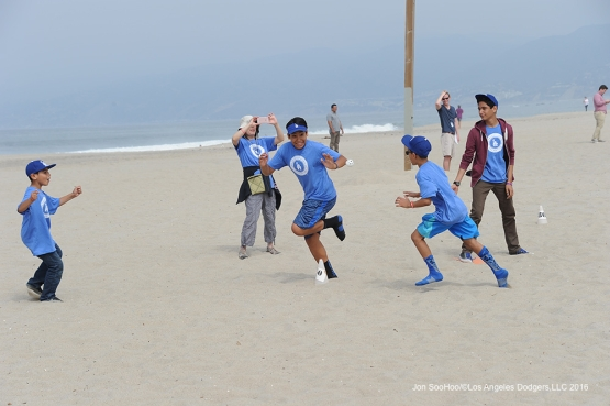 PLAY BALL LA Saturday, May 14, 2016 at Venice Beach in Venice, California.  Jon SooHoo/©Los Angeles Dodgers,LLC 2016