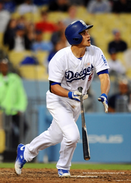 Corey Seager connects for his second home run of the game.
