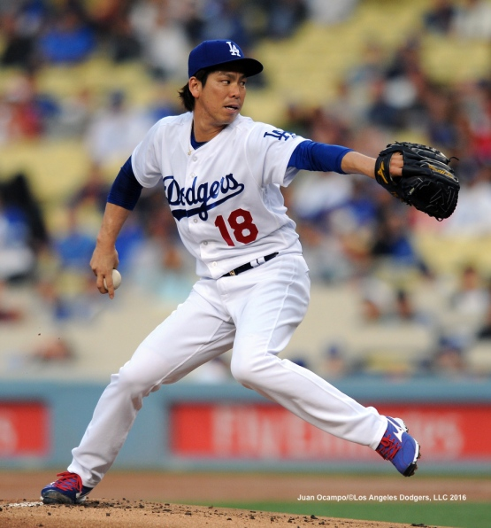 Kenta Maeda started the game against the Angels.