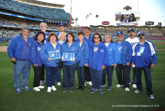 Los Angeles Dodgers prior to game against the Cincinnati Reds Monday, May 23,2016 at Dodger Stadium in Los Angeles,California. Photo by Jon SooHoo
