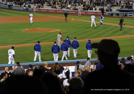 Los Angeles Dodgers beat the Cincinnati Reds Wednesday, May 25, 2016 at Dodger Stadium in Los Angeles,California. Photo by Jon SooHoo