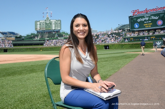 Alanna Rizzo poses prior to game vs the Chicago Cubs Monday, May 30,2016 at Wrigley Field in Chicago,Illinois. Photo by Jon SooHoo/©Los Angeles Dodgers,LLC 2016