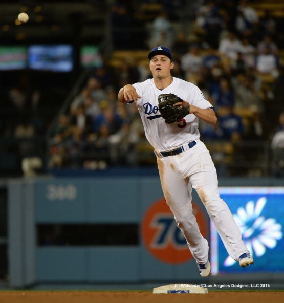 Corey Seager makes a play for the out. Jill Weisleder/Dodgers