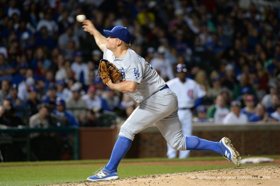 Los Angeles Dodgers Joe Blanton pitches against the Chicago Cubs Tuesday, May 31,2016 at Wrigley Field in Chicago,Illinois. Photo by Jon SooHoo/©Los Angeles Dodgers,LLC 2016
