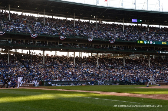 Los Angeles Dodgers J.P. Howell vs the Chicago Cubs Monday, May 30,2016 at Wrigley Field in Chicago,Illinois. Photo by Jon SooHoo/©Los Angeles Dodgers,LLC 2016
