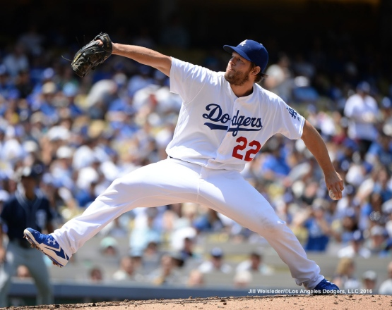 Clayton Kershaw went 9.0 strong innings against the San Diego Padres. Jill Weisleder/Dodgers