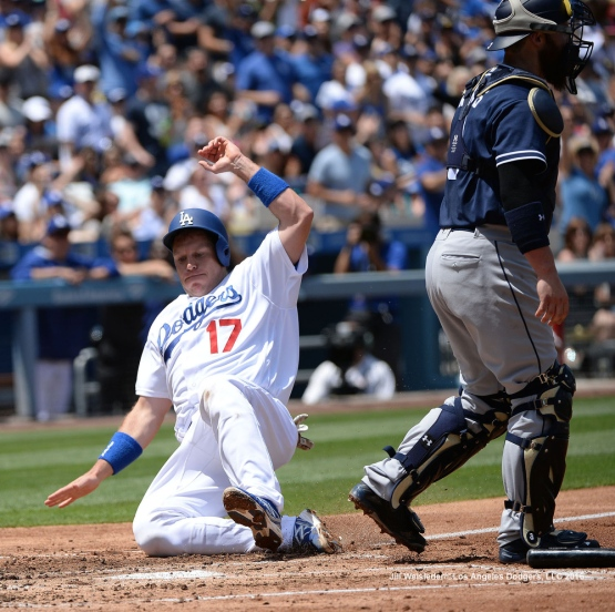 A.J. Ellis comes in to score. Jill Weisleder/Dodgers
