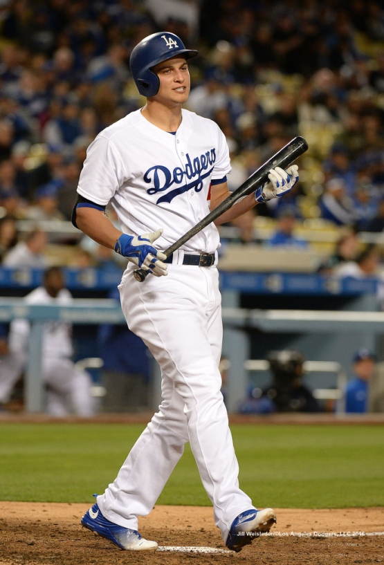 Corey Seager reacts after striking out. Jill Weisleder/Dodgers