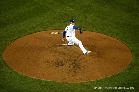 Los Angeles Dodgers Julio Urias pitches against the Colorado Rockies Tuesday, June 7, 2016 at Dodger Stadium in Los Angeles,California. Photo by Jon SooHoo/© Los Angeles Dodgers,LLC 2016