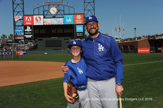The Bards prior to game against the San Francisco Giants Sunday, June 12, 2016 at AT&T Park in San Francisco, California. Photo by Jon SooHoo/© Los Angeles Dodgers,LLC 2016