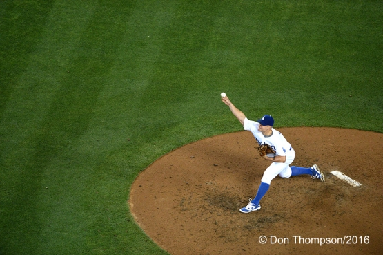Los Angeles Dodgers Joe Blanton pitches  against the Colorado Rockies Tuesday, June 7, 2016 at Dodger Stadium in Los Angeles,California. Photo by Don Thompson/© Los Angeles Dodgers,LLC 2016