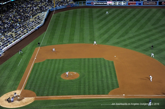 Los Angeles Dodgers against the Colorado Rockies Tuesday, June 7, 2016 at Dodger Stadium in Los Angeles,California. Photo by Jon SooHoo/© Los Angeles Dodgers,LLC 2016