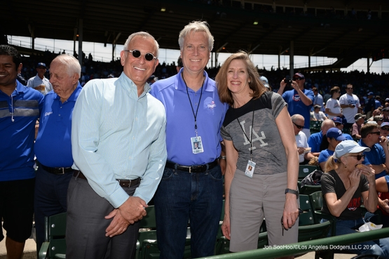 The Walter family and guest at game vs the Chicago Cubs Thursday, June 2,2016 at Wrigley Field in Chicago,Illinois. Photo by Jon SooHoo/©Los Angeles Dodgers,LLC 2016