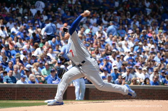 Los Angeles Dodgers Julio Urias pitches vs the Chicago Cubs Thursday, June 2,2016 at Wrigley Field in Chicago,Illinois. Photo by Jon SooHoo/©Los Angeles Dodgers,LLC 2016