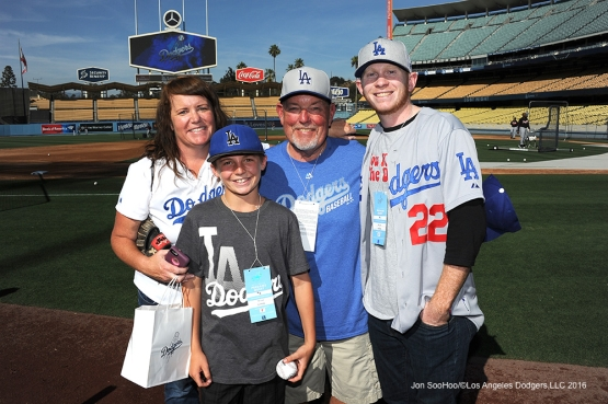 Great Los Angeles Dodgers fans pose prior to game against the Atlanta Braves Friday, June 3, 2016 at Dodger Stadium in Los Angeles,California. Photo by Jon SooHoo/© Los Angeles Dodgers,LLC 2016