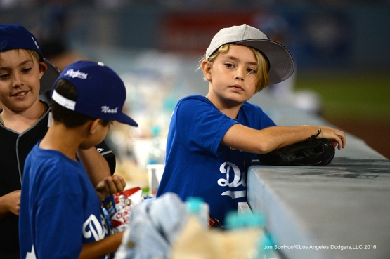 Great Los Angeles Dodger fans during game against the Atlanta Braves Friday, June 3, 2016 at Dodger Stadium in Los Angeles,California. Photo by Jon SooHoo/© Los Angeles Dodgers,LLC 2016